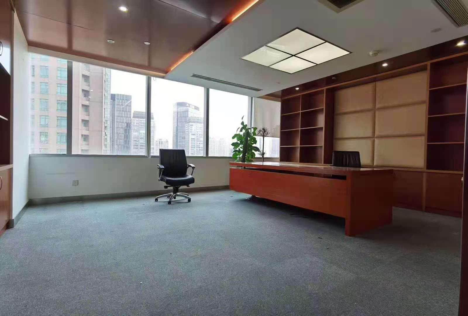 大上海时代广场出租556平写字楼精装修带家具