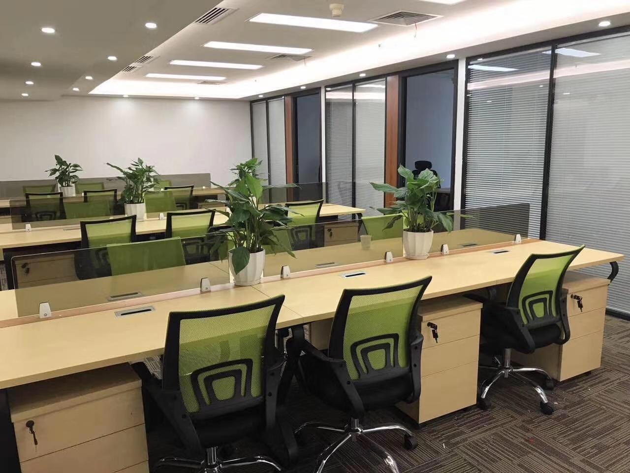华能联合大厦出租365平办公室精装修带家具