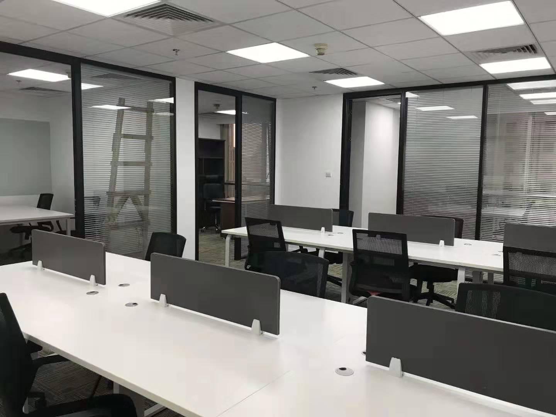 华能联合大厦出租134平办公室精装修带家具