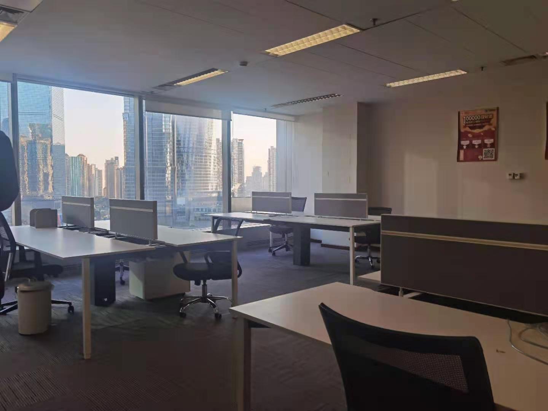 上海银行大厦出租142平办公室精装修带家具