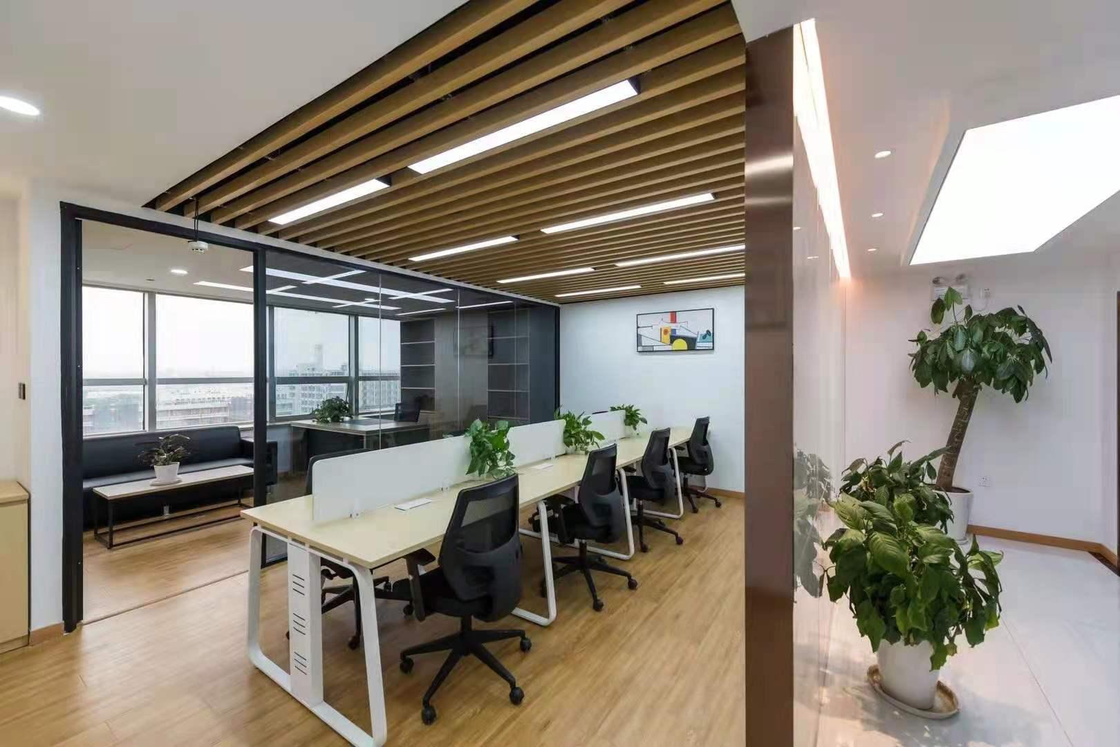 银桥大厦出租134平办公室精装修带家具