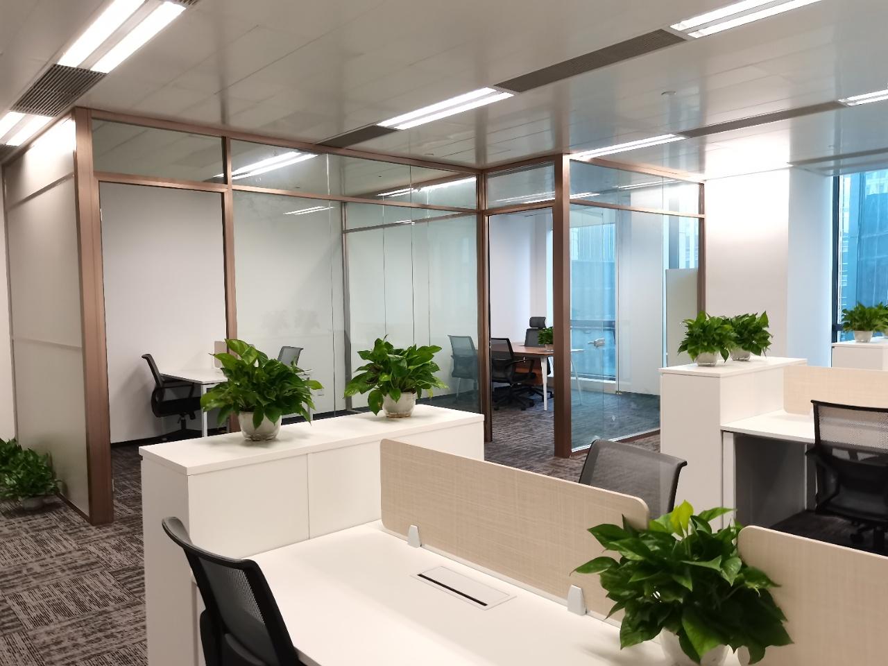 上海华电大厦出租138平办公室精装修带家具