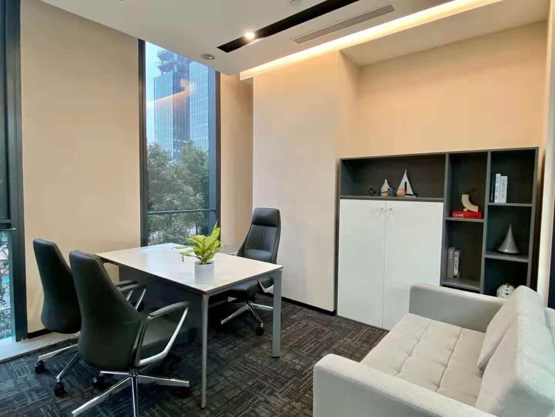 平安财富大厦出租257平办公室精装修带家具