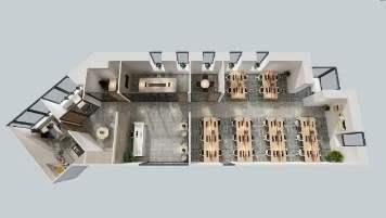 华夏银行大厦出租408平办公室精装修带家具