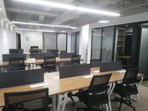 长寿路地铁口源达大厦新出155平带装修家具办公室