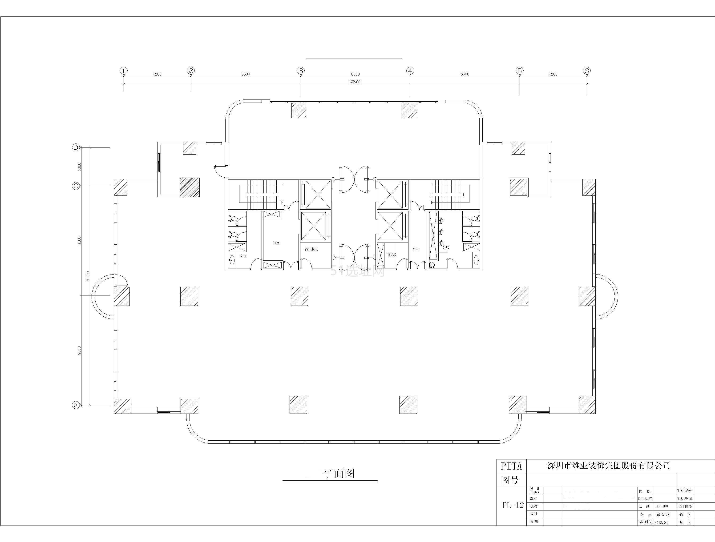 航科大厦平面图